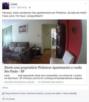 patrocínio no facebook